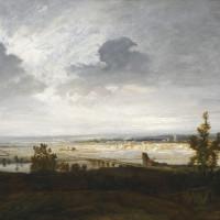 Georges MIchel, Pont menant à une ville, huile sur toile, 54,5 x 73,5 cm, Fondation Custodia, collection Frits Lugt, Paris