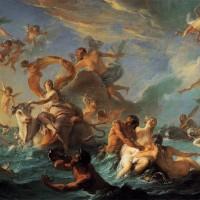 Nicolas Coypel, L'Enlèvement d'Europe, 1727, huile sur toile, 128 x 194 cm, Philadelphie, Museum of Art
