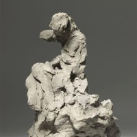 Jean-Baptiste Carpeaux, Femme assise sur un rocher, vers 1870, esquisse en terre crue, Paris, Musée d'Orsay