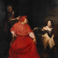 Paul Delaroche, Jeanne d'Arc malade est interrogée dans sa prison par le cardinal de Winchester, 18254, huile sur toile, Rouen, Musée des Beaux-Arts