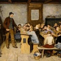 Albert Anker, L'école du village, 1896, Basel, Kunstmuseum